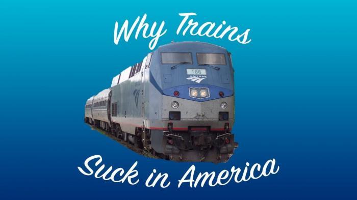 В Америке поезда превратились в полный отстой