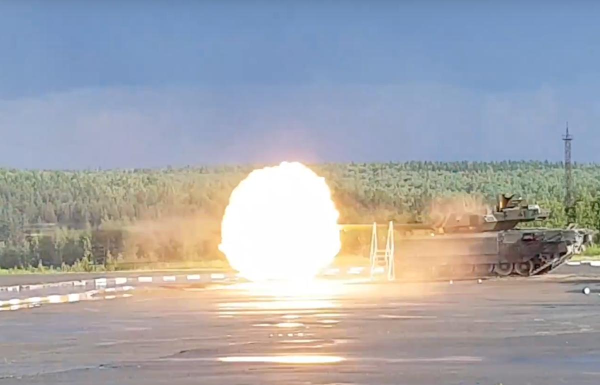 «Армата» Т-14 учится стрелять: видео стрельб новейшего танка России