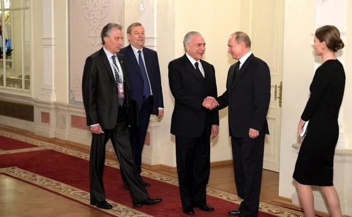 Владимир Путин и Президент Бразилии Мишел Темер посетили Большой театр