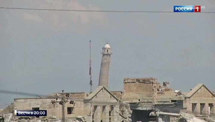 В Мосуле уничтожена мечеть Ан Нури, в которой ИГИЛ провозгласило свой халифат