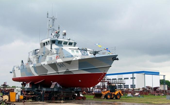 ВРыбинске спущен наводу четвёртый противодиверсионный катер проекта 21980 «Грачонок»