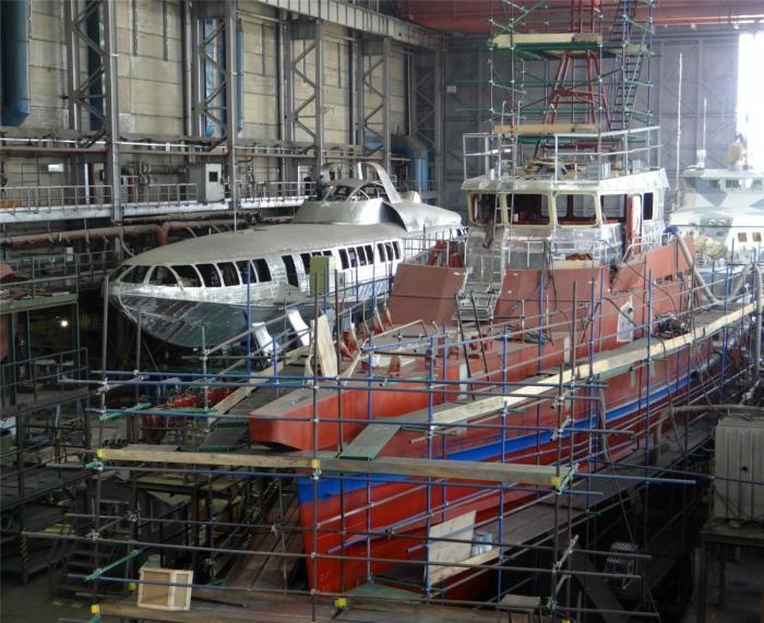Идёт строительство нового пограничного сторожевого катера для Береговой охраны ФСБ России