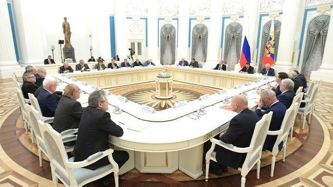Владимир Путин встретился с руководителями ведущих вузов страны и институтов РАН