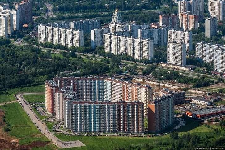 Лучший вид на Москву с высоты птичьего полёта