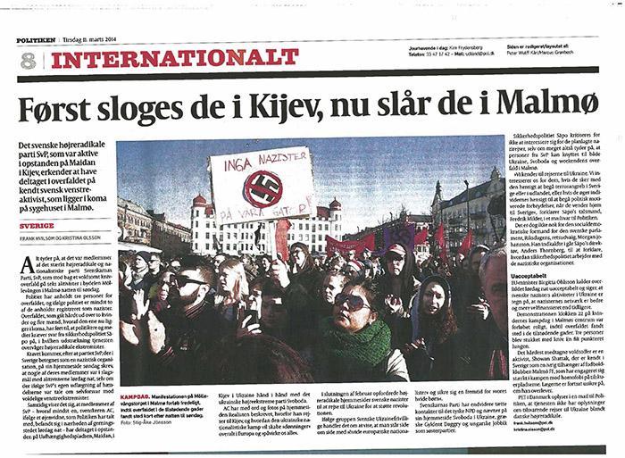 Сначала они убивали в Киеве, теперь они убивают в Мальмё