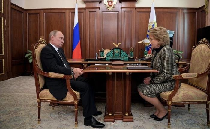 Владимир Путин провёл рабочую встречу с Председателем Совета Федерации Валентиной Матвиенко