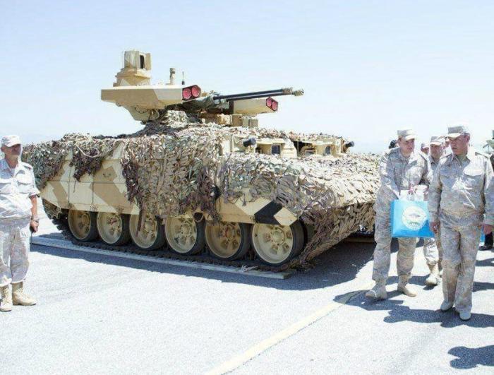 Боевая машина поддержки танков БМПТ-72 «Терминатор-2» на российской военной базе Хмеймим