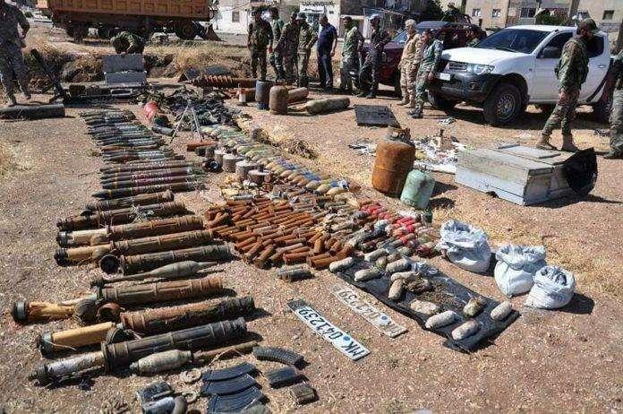 В Сирии в провинции Хомс обнаружен склад ИГИЛ с израильским оружием