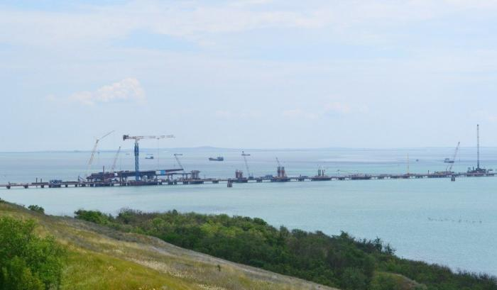 Стройка Крымского моста вышла напиковую мощность