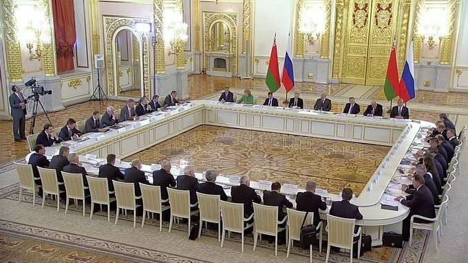 Заседание Высшего Государственного Совета Союзного государства России иБелоруссии