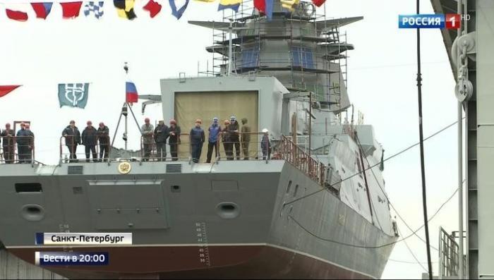 В Петербурге спустили на воду новейший корвет-невидимку