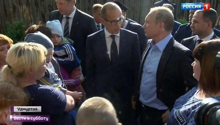 Владимир Путин в Удмуртии проведал Александра Бречалова