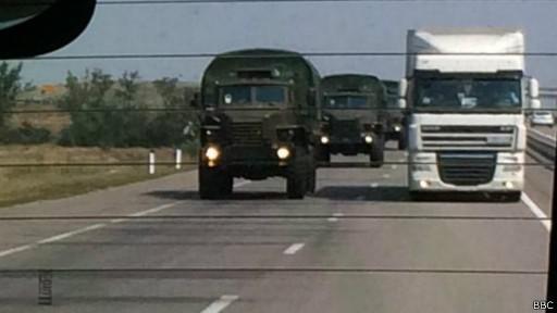 Два российских конвоя на Украине