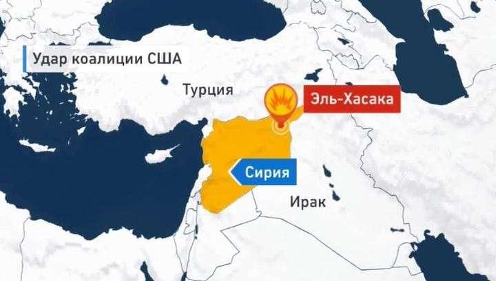 Коалиция бандитов во главе с США разбомбила деревню в Сирии