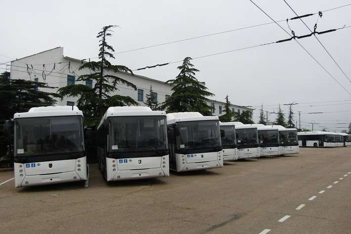 25 газовых автобусов НЕФАЗ вышли наулицы Севастополя