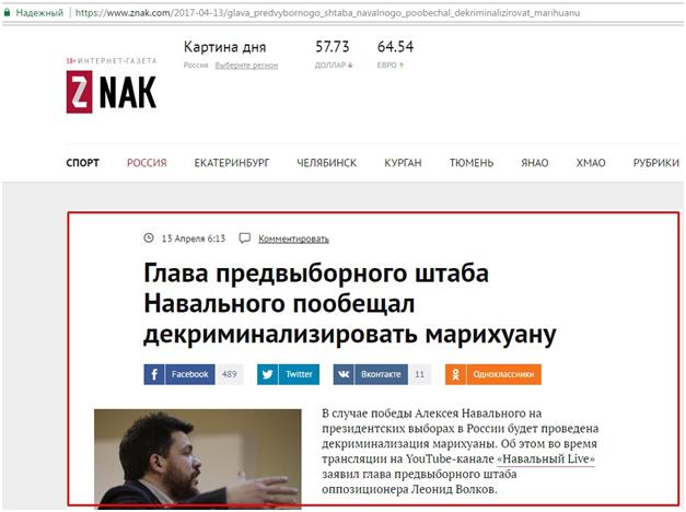 Навальный проталкивает наркоту под крышей еврейского фашиста Сороса