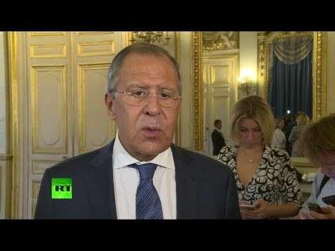 Сергей Лавров и его коллега из Франции Жан-Ив ле Дриан дали пресс-конференцию