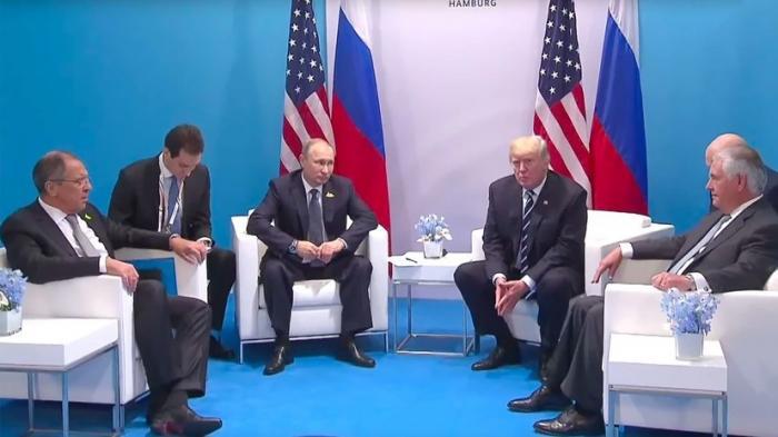 Владимир Путин проводит встречу с Дональдом Трампом на саммите G20