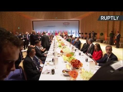 В Гамбурге состоялся торжественный приём в честь глав делегаций стран-участниц саммита G20