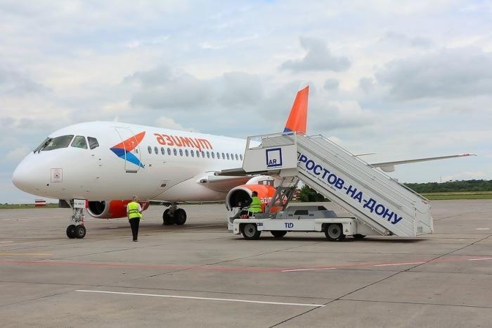 Ростовская авиакомпания «Азимут» получила первый самолет Sukhoi Superjet-100