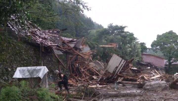 Сильнейшее наводнение в Японии: 15 погибших
