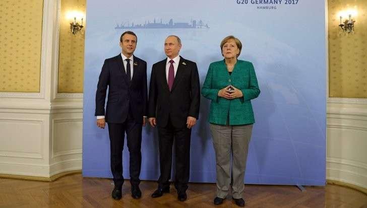 В Гамбурге за завтраком проходит встреча Путина, Меркель и Макрона