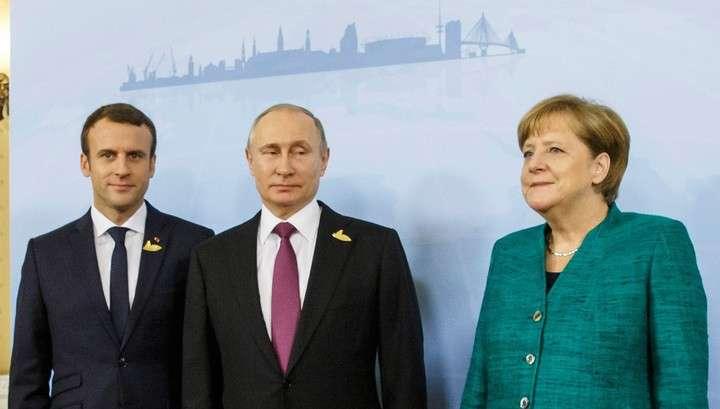 Владимир Путин провёл встречу с Эммануэлем Макроном