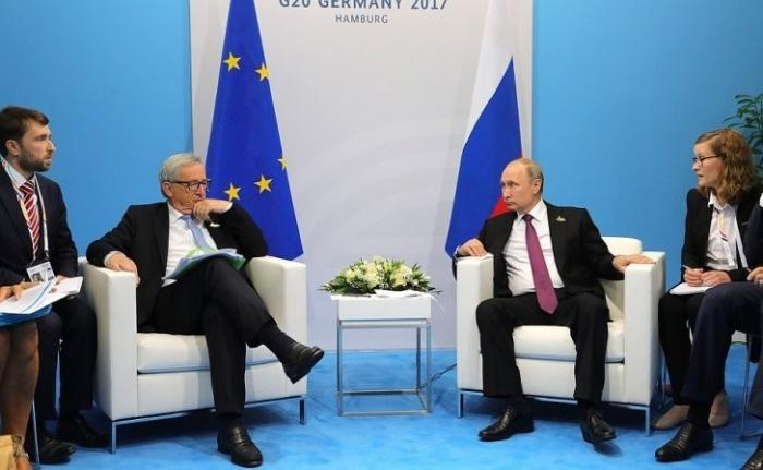 Встреча Владимира Путина с Председателем Европейской комиссии Жан-Клодом Юнкером