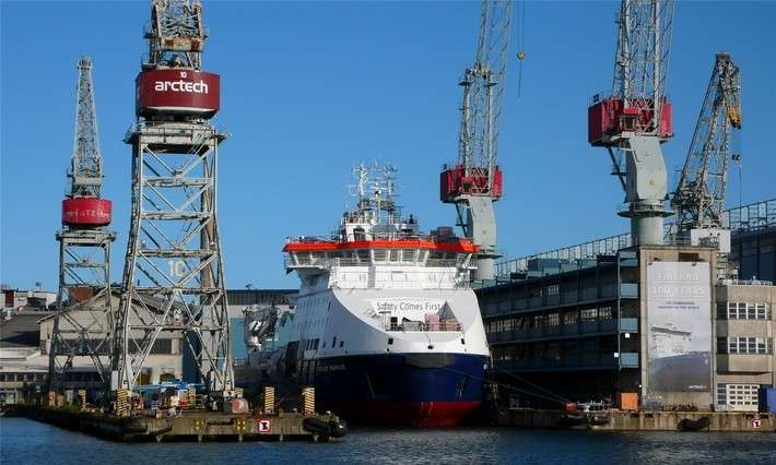 На «Arctech Helsinki Shipyard» спущено наводу судно ледового класса «Фёдор Ушаков»
