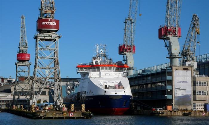 На верфи «Arctech Helsinki Shipyard» спущено на воду судно ледового класса «Фёдор Ушаков»