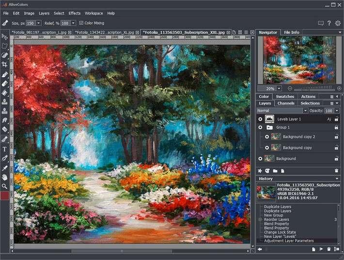 Российский графический редактор AliveColors, как импортозамещение Photoshop