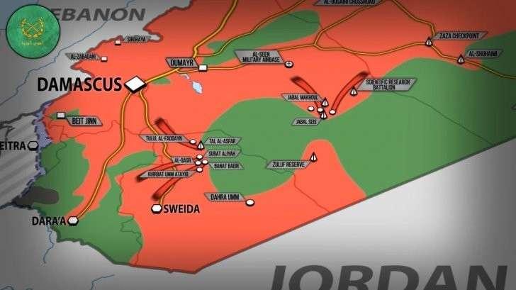 Сирия и Ирак: правительственная армия бьёт наёмников США в Сувейде
