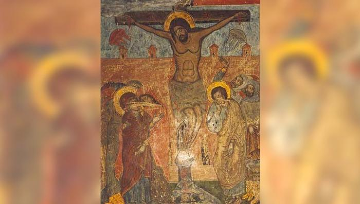 НЛО на древней росписи в церкви обнаружено в грузинском городе Мцхета