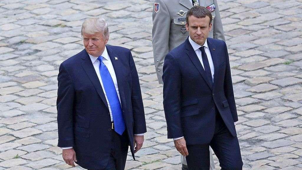 Дональд Трамп убедил Эммануэля Макрона оставить Асада в покое?