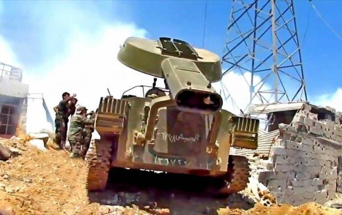Сирия: как УР-77 «Змей Горыныч» выжигает боевиков в Дамаске