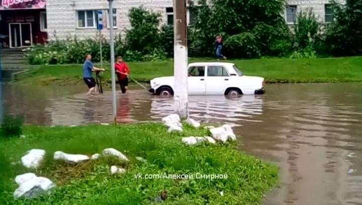 Киров и Бердск ушли под воду в результате сильнейшего ливня