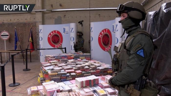 В Германии полиция изъяла 3,8 тонны кокаина стоимостью €800 млн