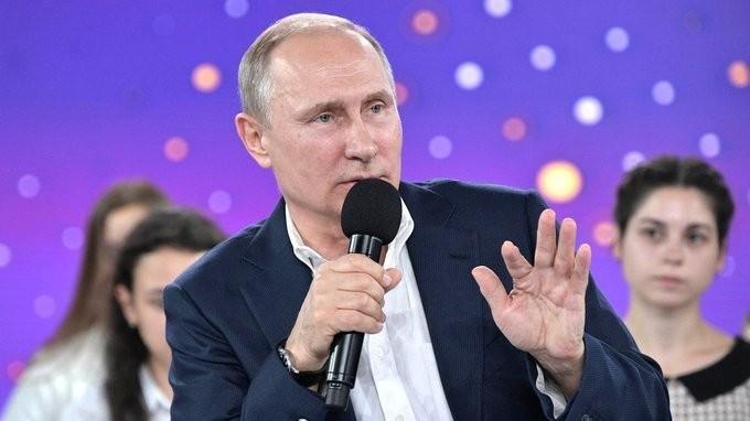 Встреча Владимира Путина с учащимися образовательного центра для одарённых детей «Сириус».