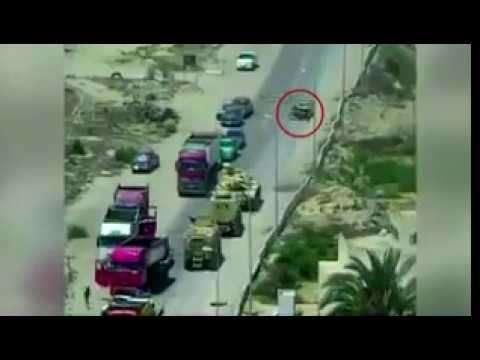 Египет: правительственный танк раздавил шахид-мобиль со взрывчаткой и не взорвался