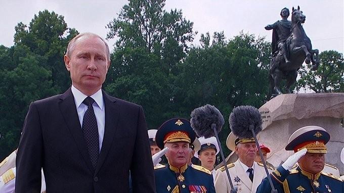 Петербург: военно-морской парад, речь Владимира Путина