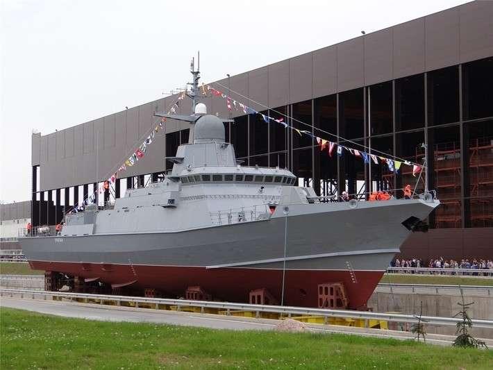 Малый ракетный корабль «Ураган» спущен на воду! политика, проивзодство, россия, строительство