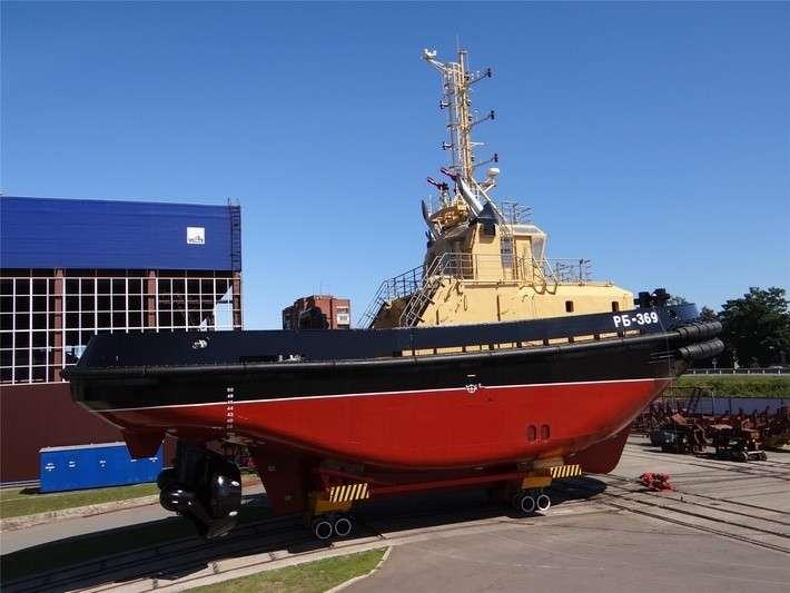 ЛСЗ «Пелла» спустил на воду очередной буксир проекта 16609 политика, проивзодство, россия, строительство