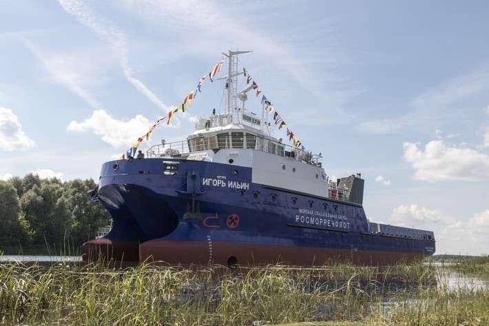 Cпущено на воду многофункциональное морское водолазное судно-катамаран проекта SDS18 политика, проивзодство, россия, строительство