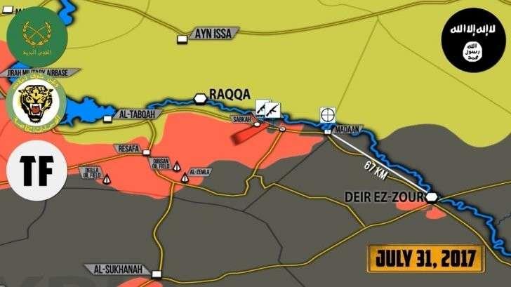 Сирия: ВКС России и ВВС Сирии уничтожают конвои наёмников США