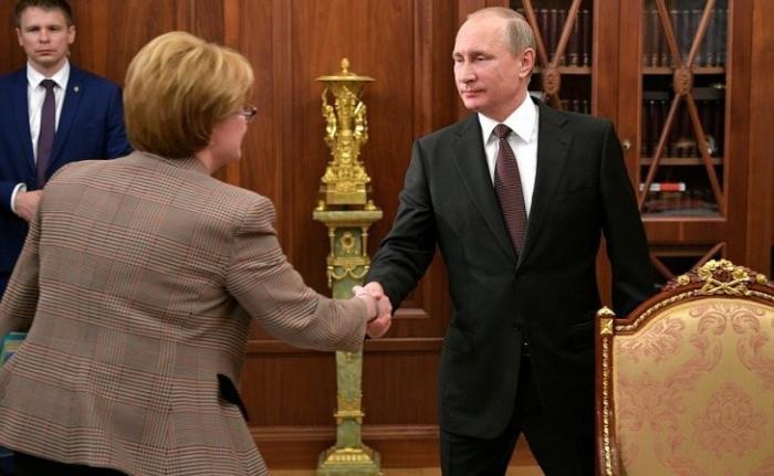Владимир Путин провёл встречу с Министром здравоохранения Вероникой Скворцовой