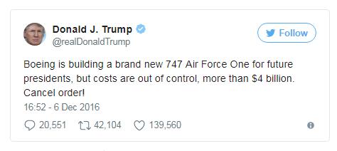 Покупка для ВВС США: исключительно на новый срок президенства