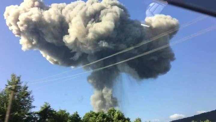 В Абхазии на складе боеприпасов произошел мощный взрыв