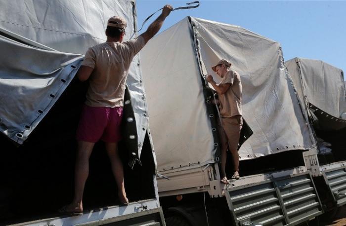 Все грузовики из состава российской гуманитарной колонны прибыли в Луганск