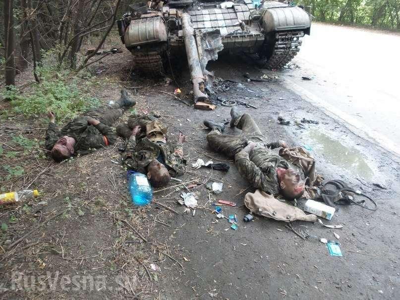 Киевские кретины гонят своих карателей на убой в новые котлы