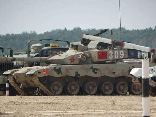 Танковый биатлон: китайские танки в сравнении с русской техникой